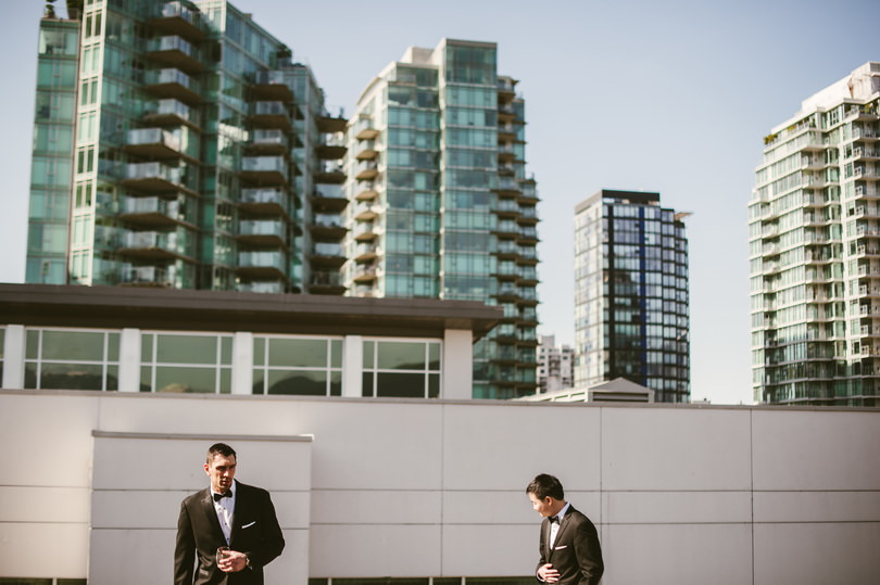 vancouver wedding photographers photographing in coal harbour