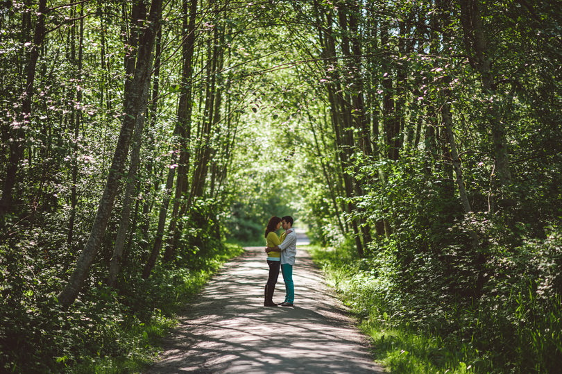 Engagement session in the forest British Columbia