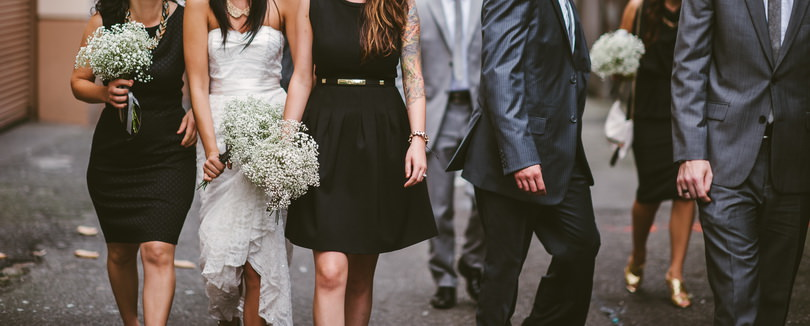 Candid bridal party photographs