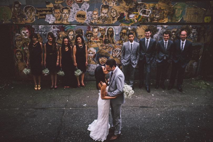 unique bridal party photographs in Vancouver