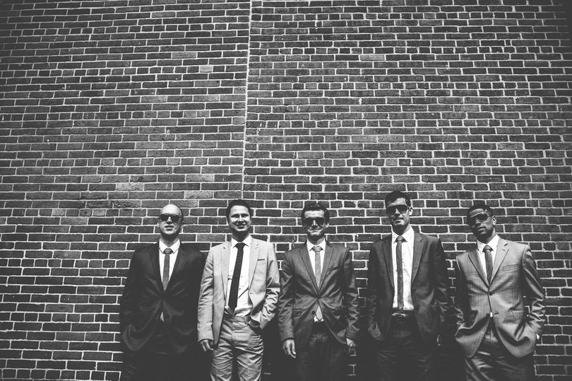 gastown bridal party photographs