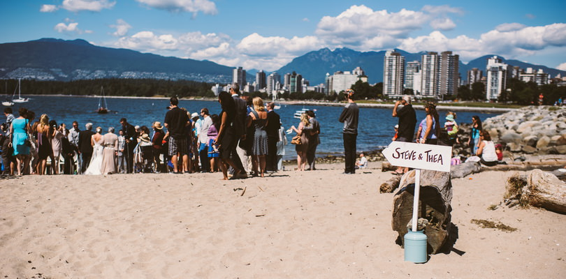 wedding overlooking vancouver city