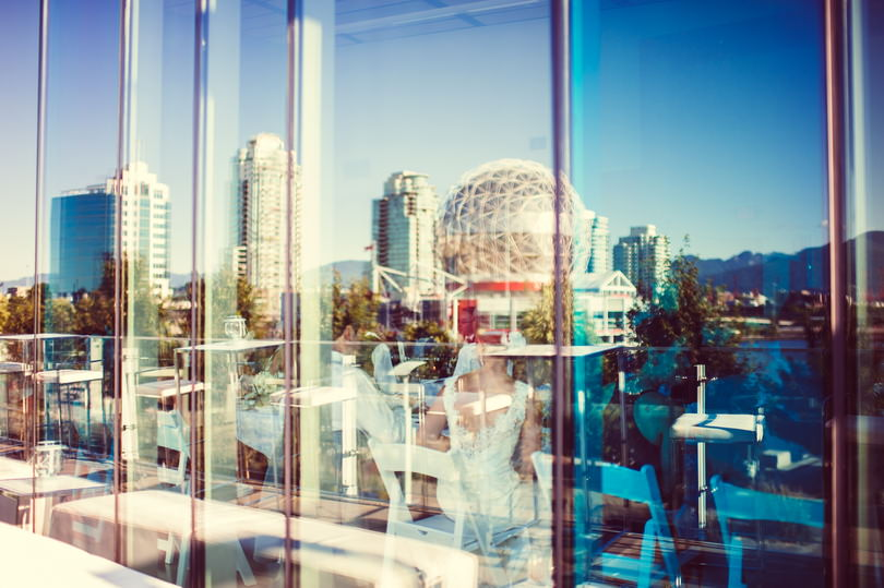 Wedding venue downtown Vancouver that shows off the city skyline