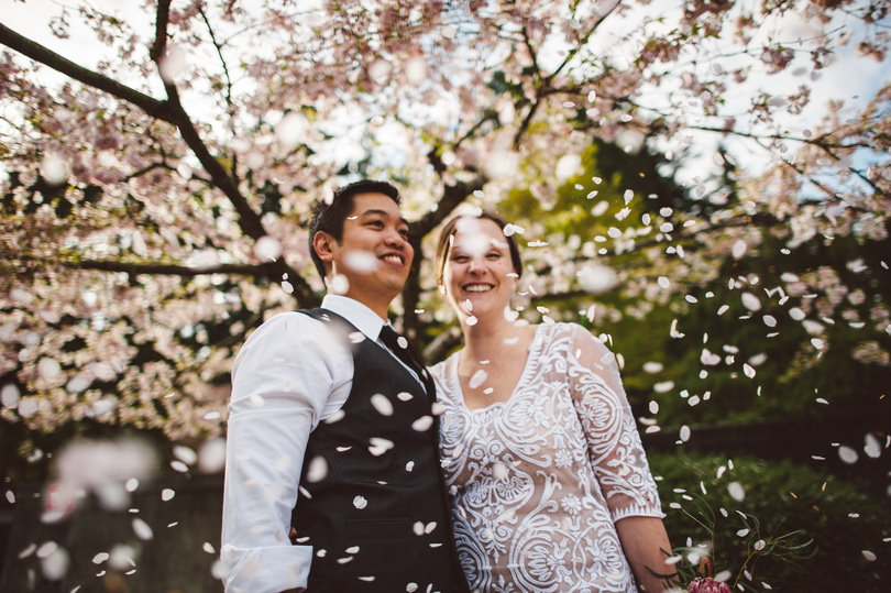spring time wedding in Vancouver, British Columbia Canada