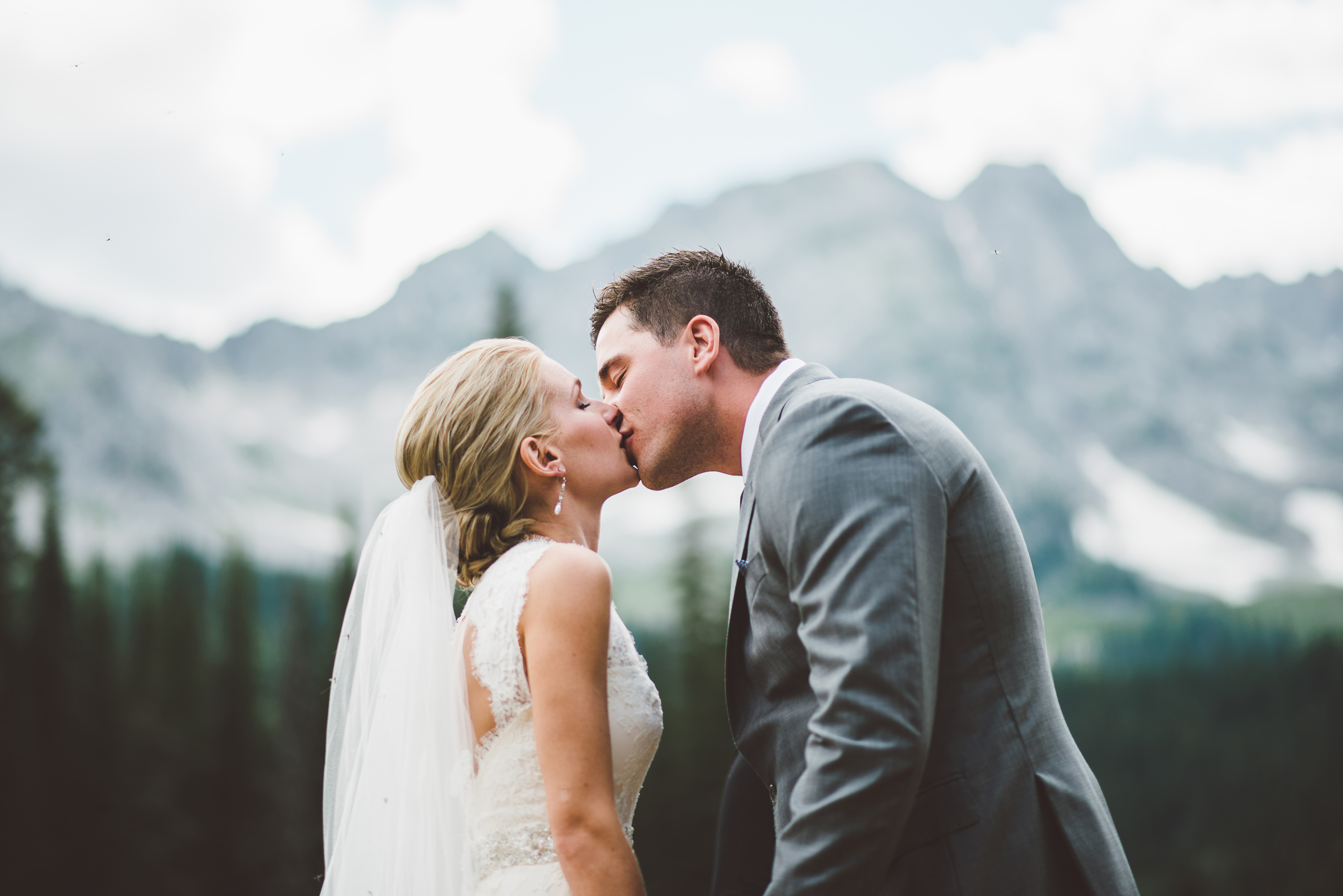 Fernie ski hill wedding