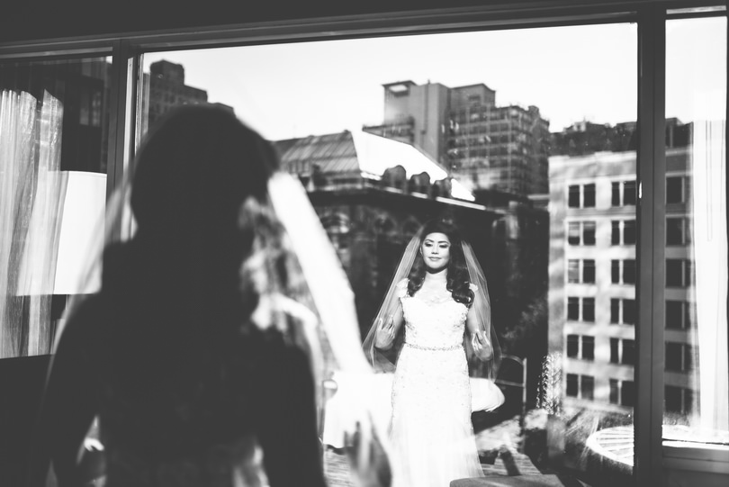 Vancouver downtown city wedding