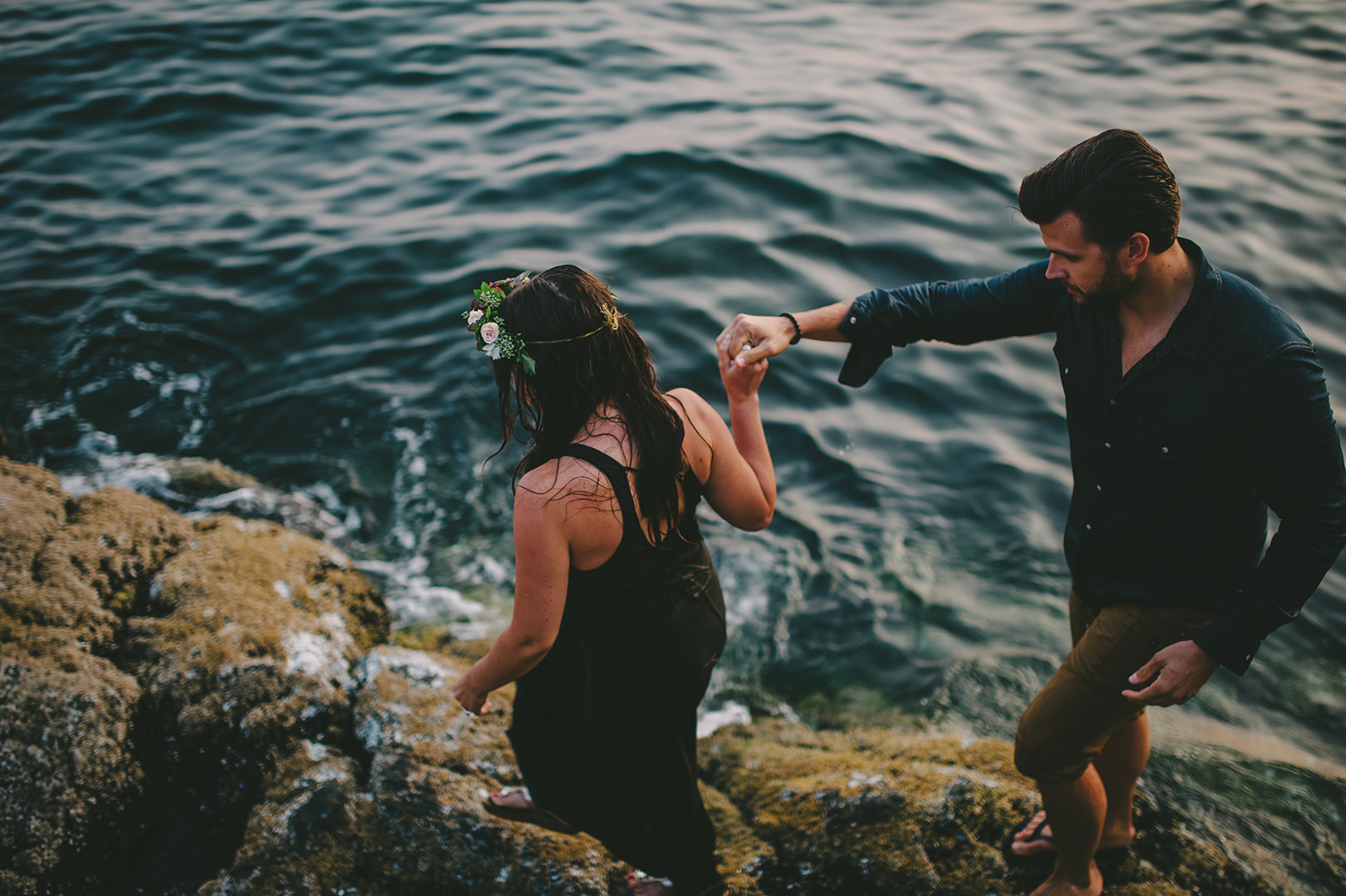 Whytecliff beach engagement session