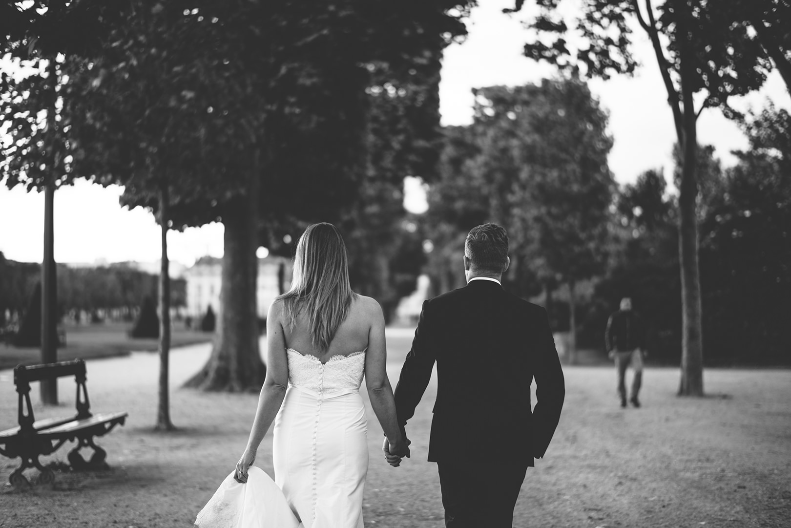 black and white wedding photography Paris