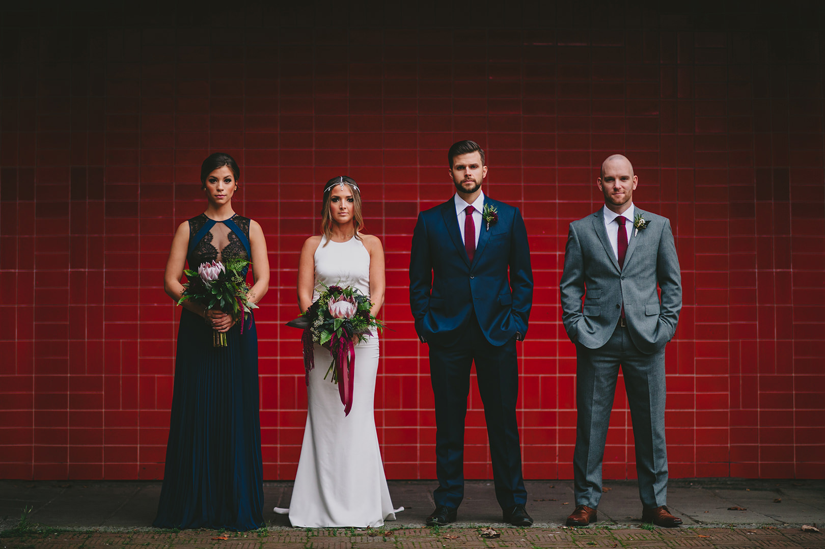edgy Bohemian city wedding vancouver