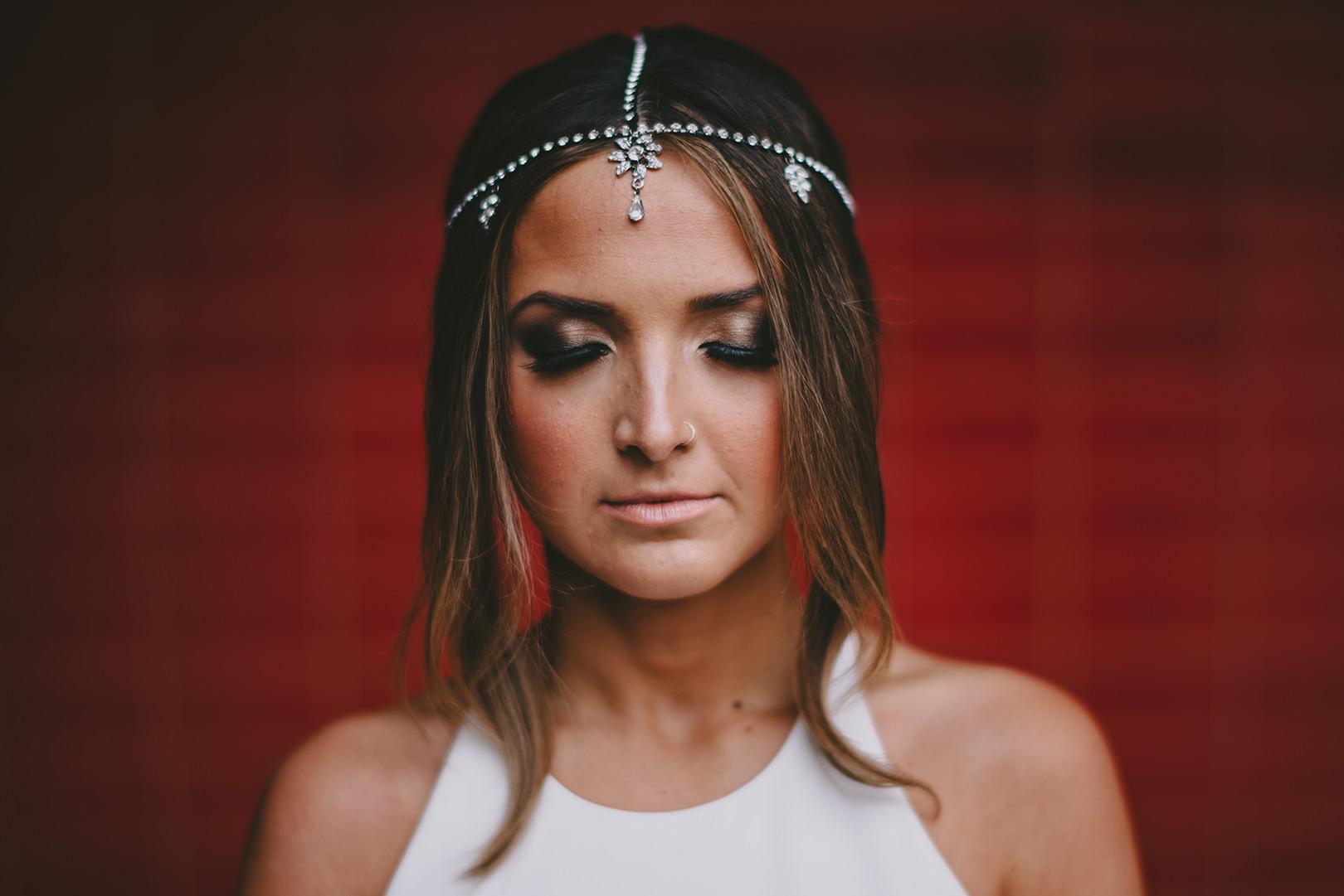unique Bohemian bridal attire