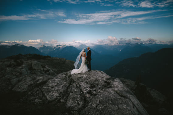 Chris & Ann // Mountaintop Helicopter Elopement