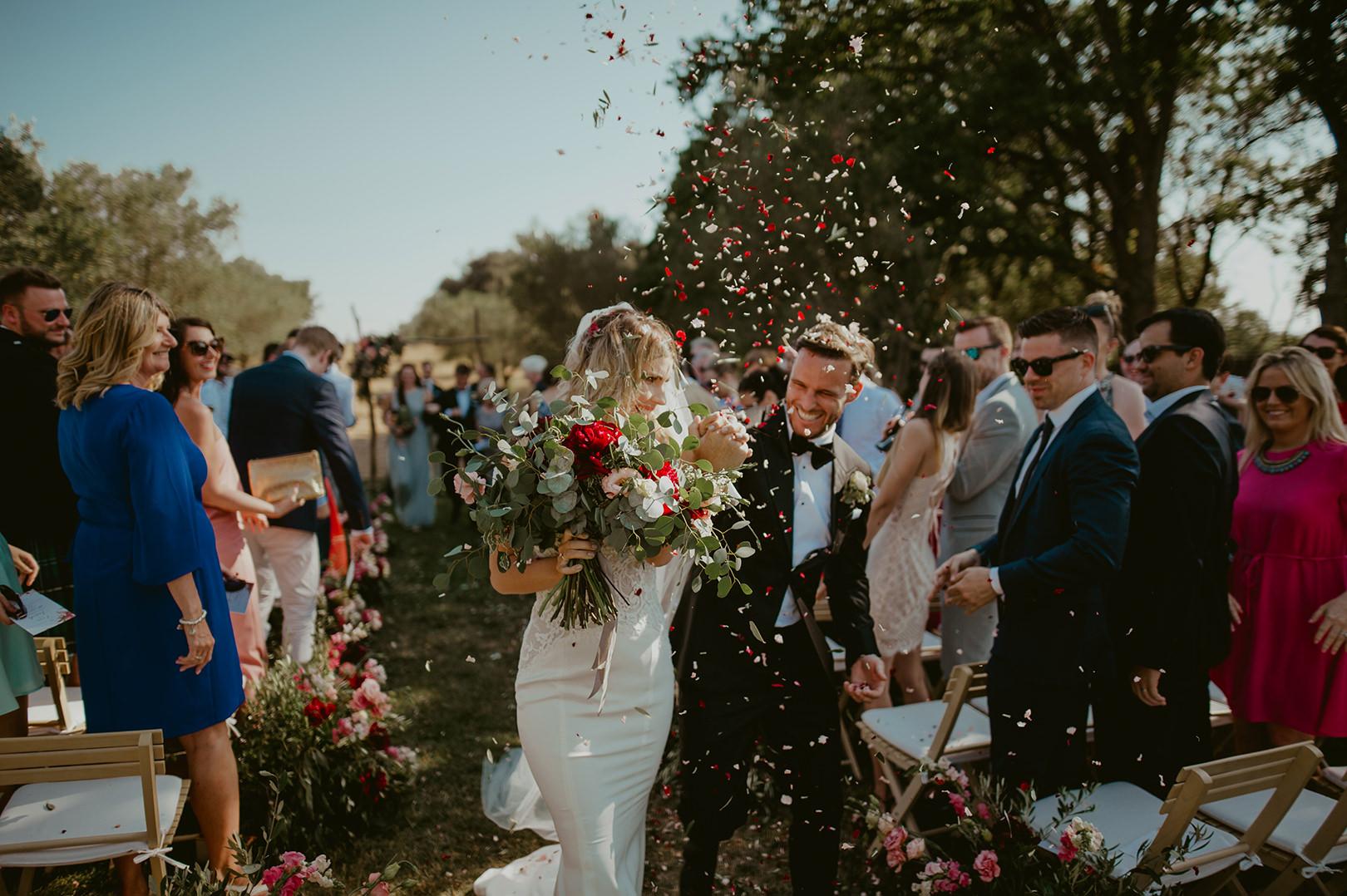 Happy celebration wedding photo