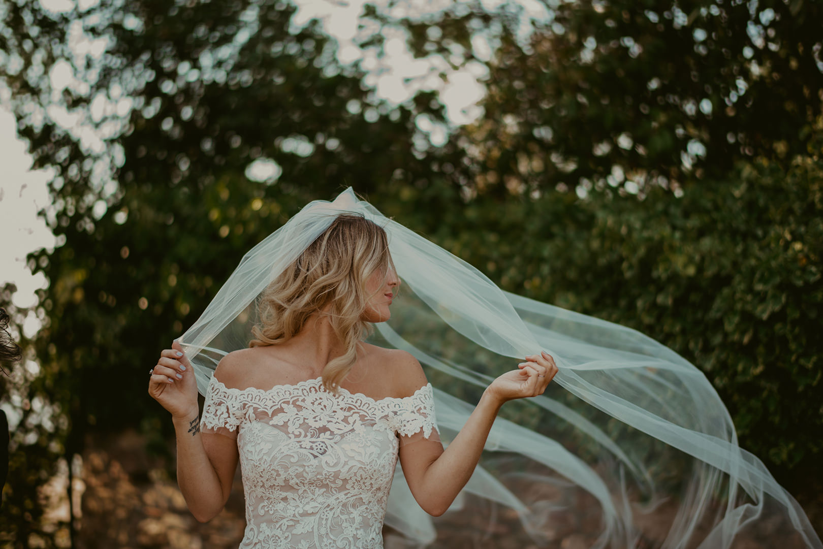 Beautiful bride in Girona Spain
