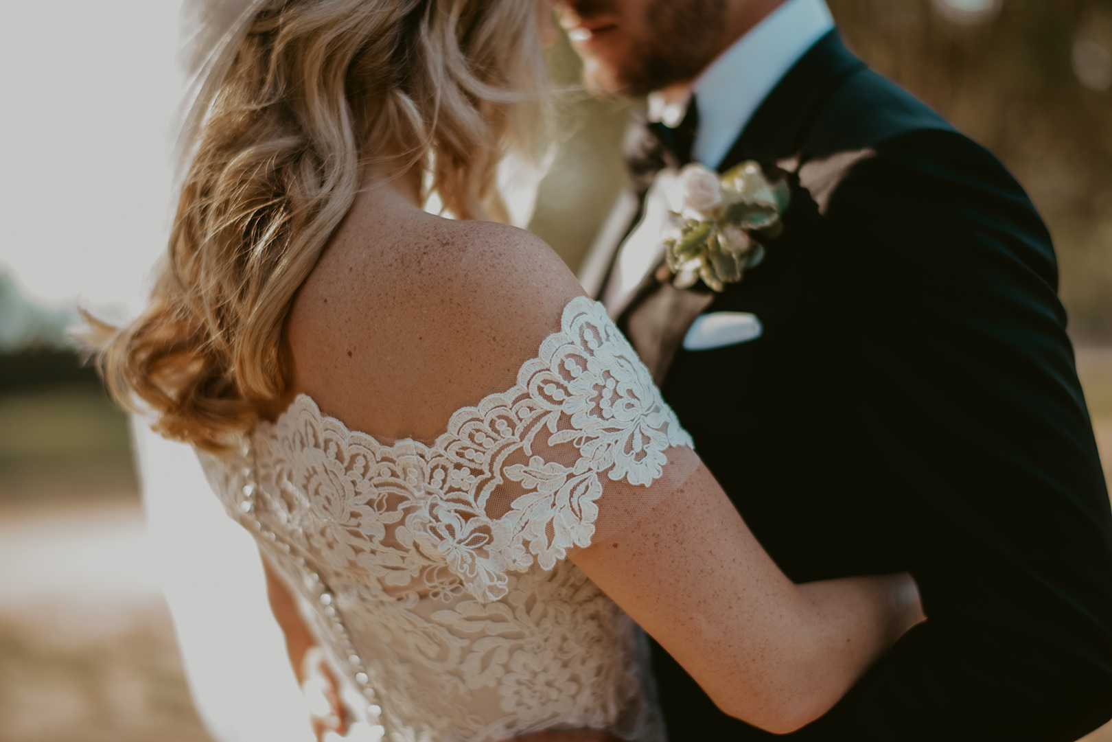 Beautiful Louicol Designs wedding dress in Spain