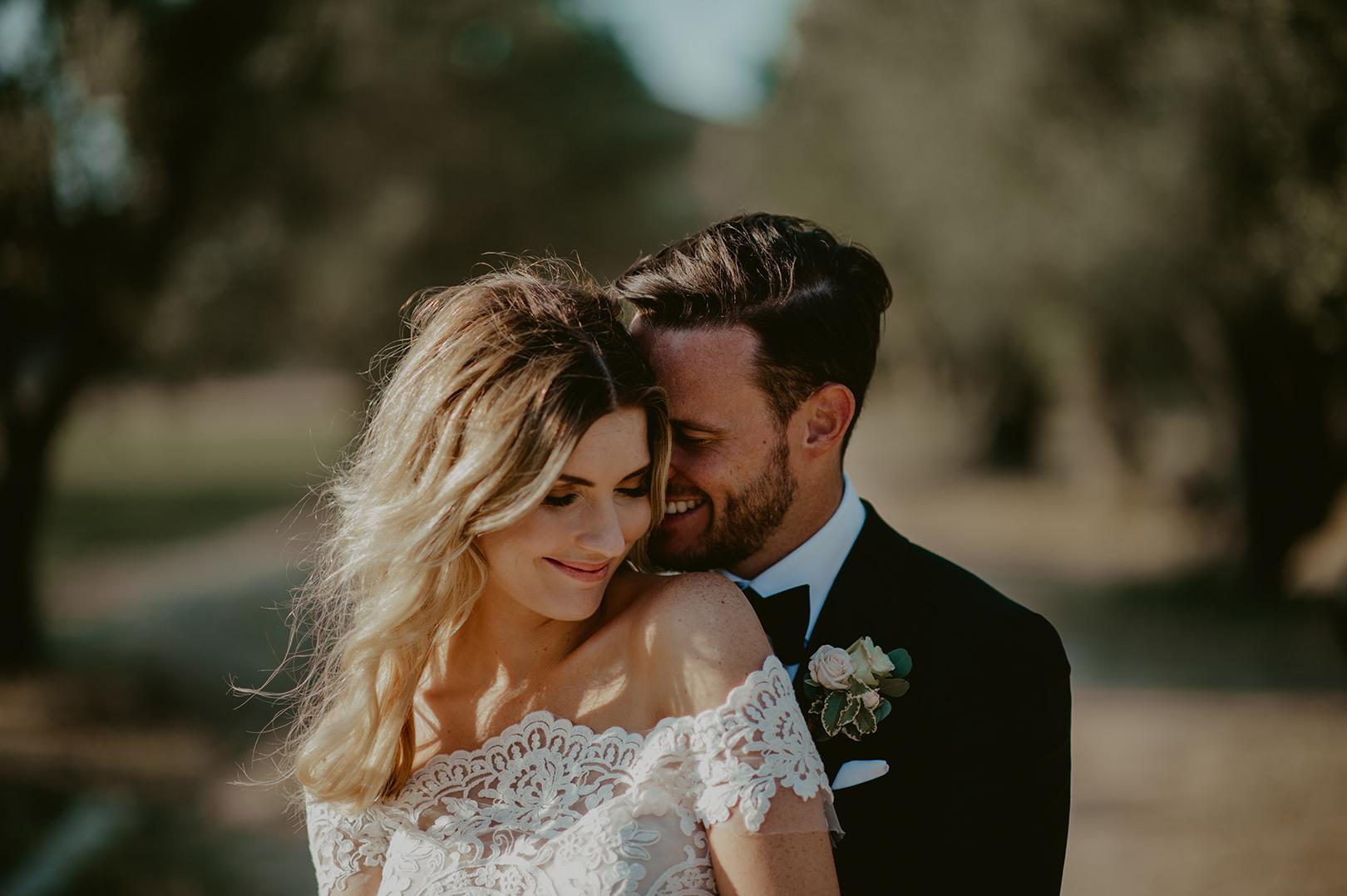 Happy wedding portraiture in Girona Spain