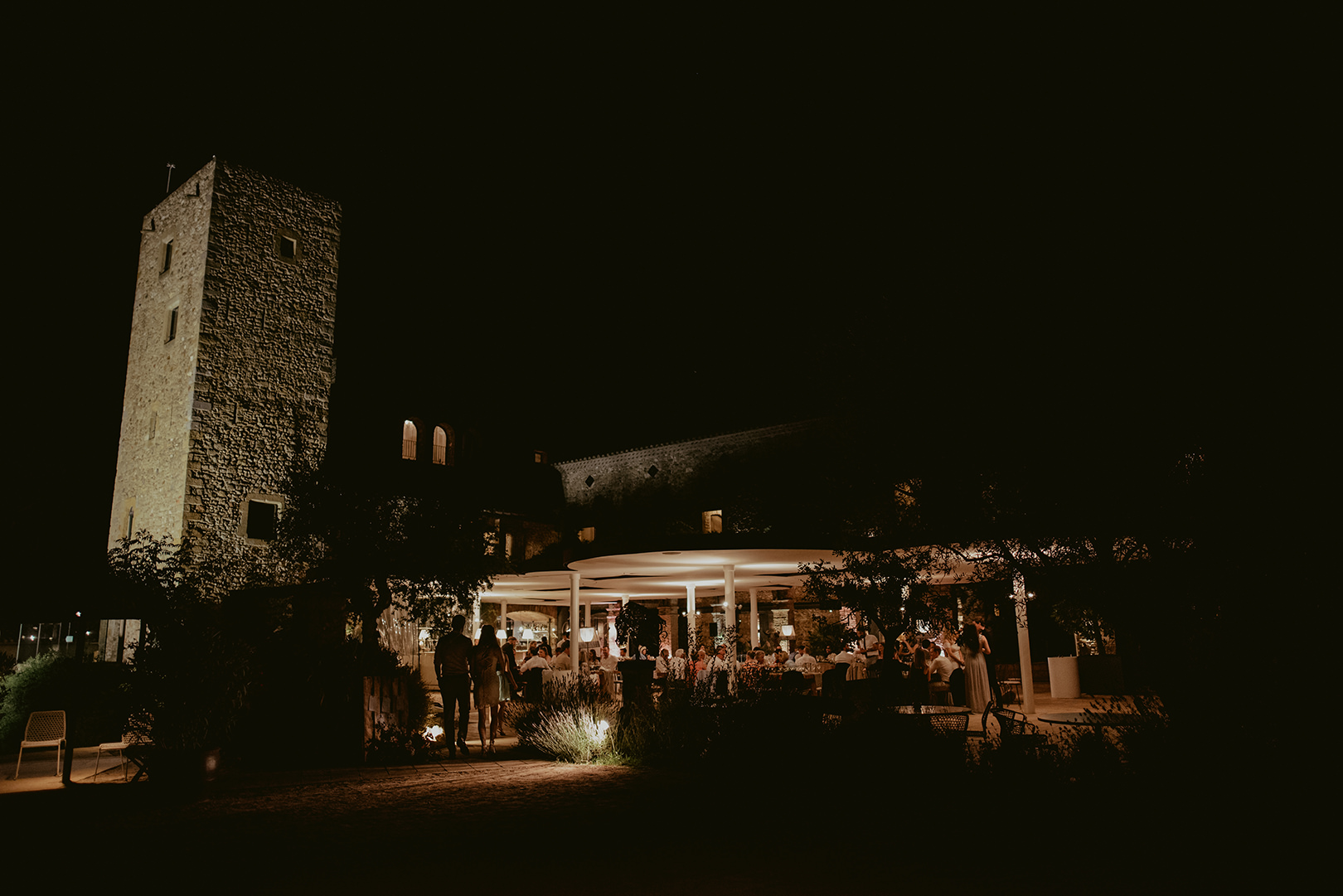 Castell d'Emporda wedding at night