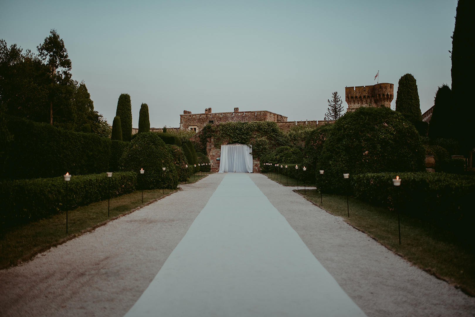 Chateau de la Napoule Wedding ceremony setup