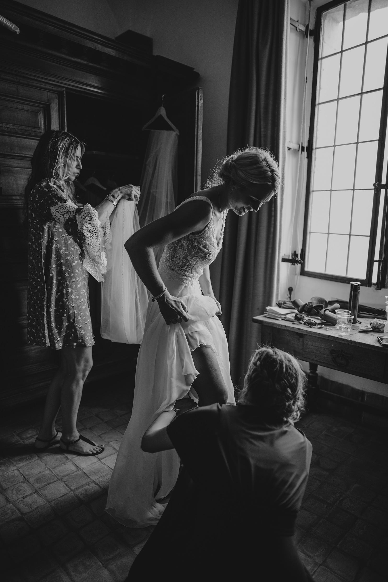 Wedding preparation at Chateau de la Napoule