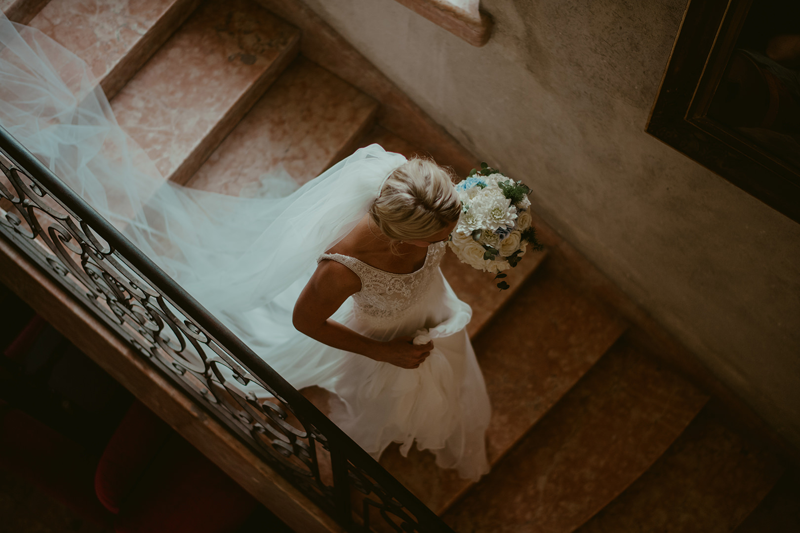 Beautiful bridal photography in south of France