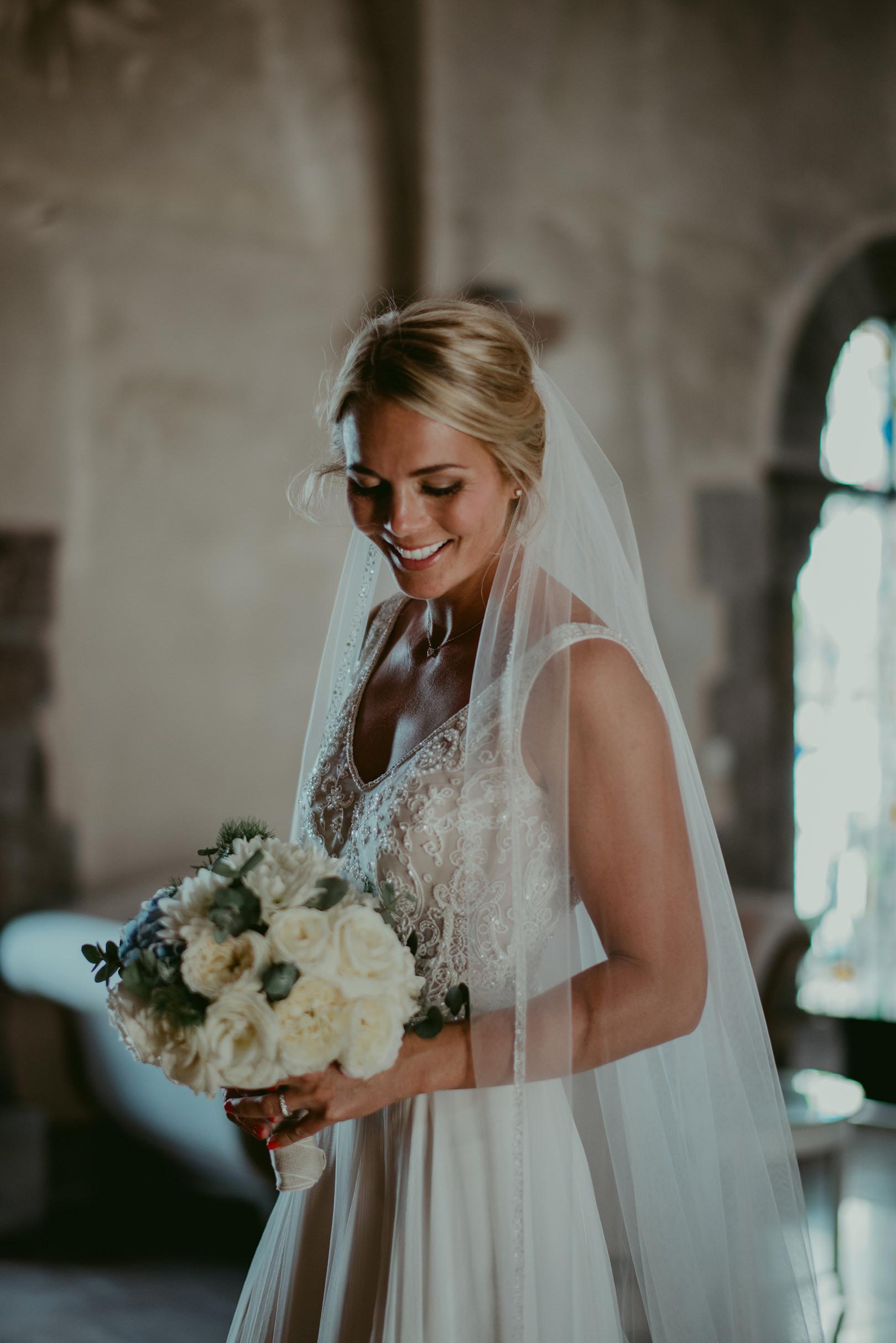 Beautiful bridal photograph at Chateau de la Napoule France