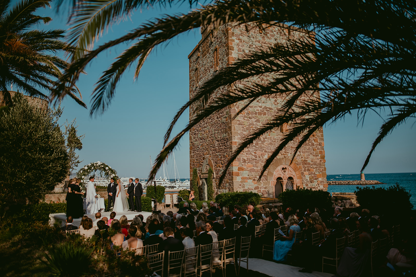 Wedding ceremony in Cannes France