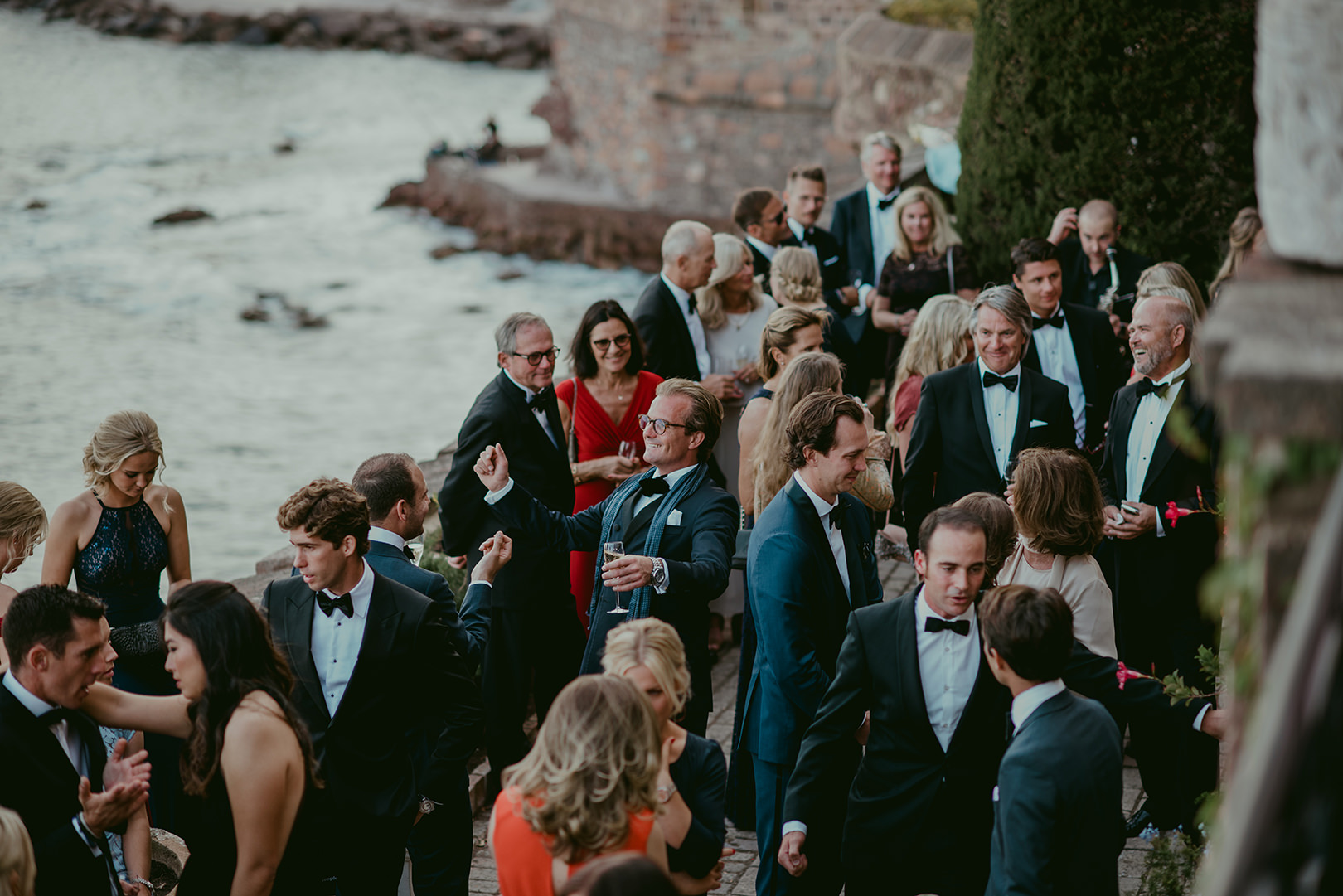 Wedding guests in Cannes South of France