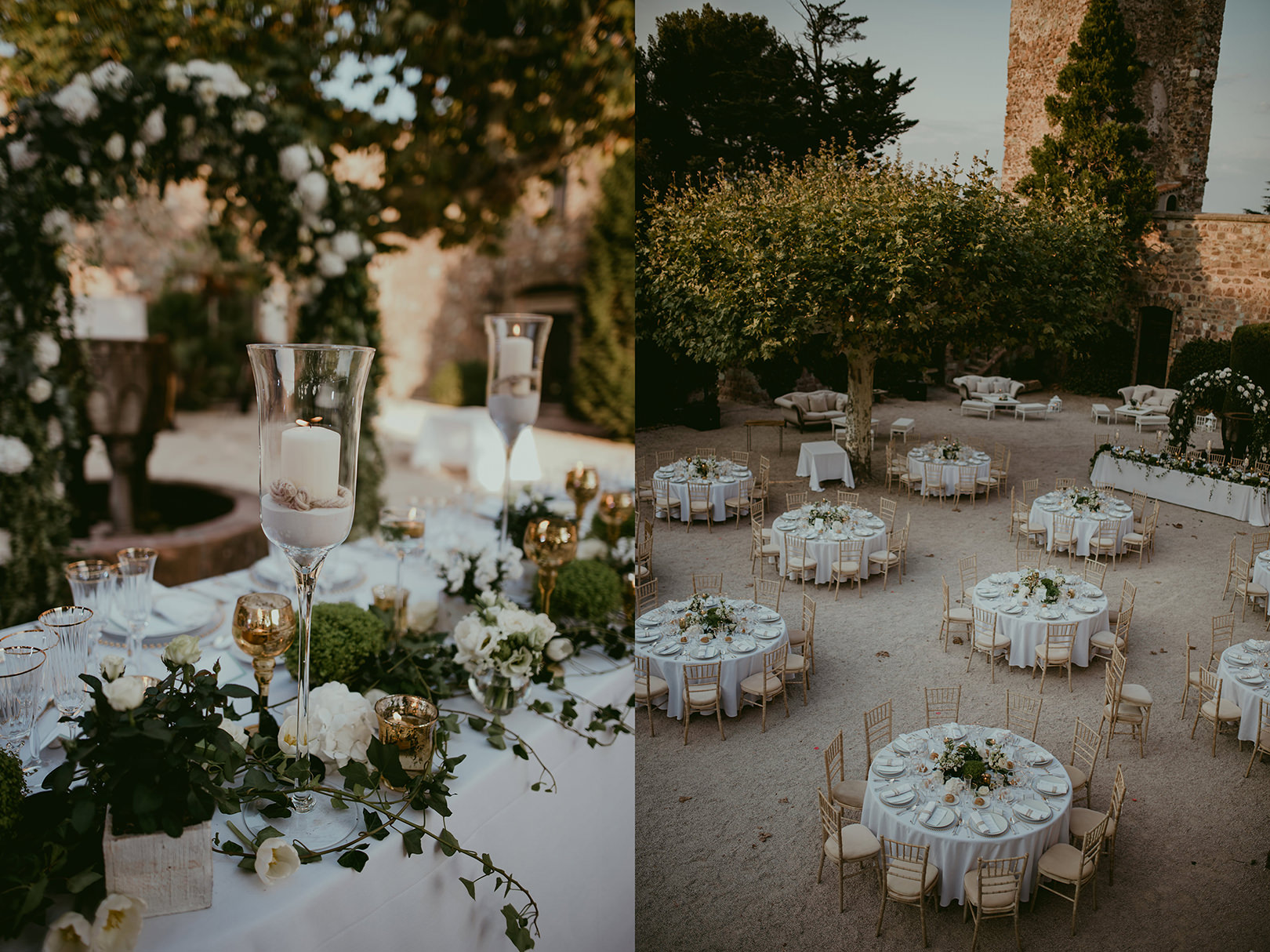 Beautiful head table design in Cannes France
