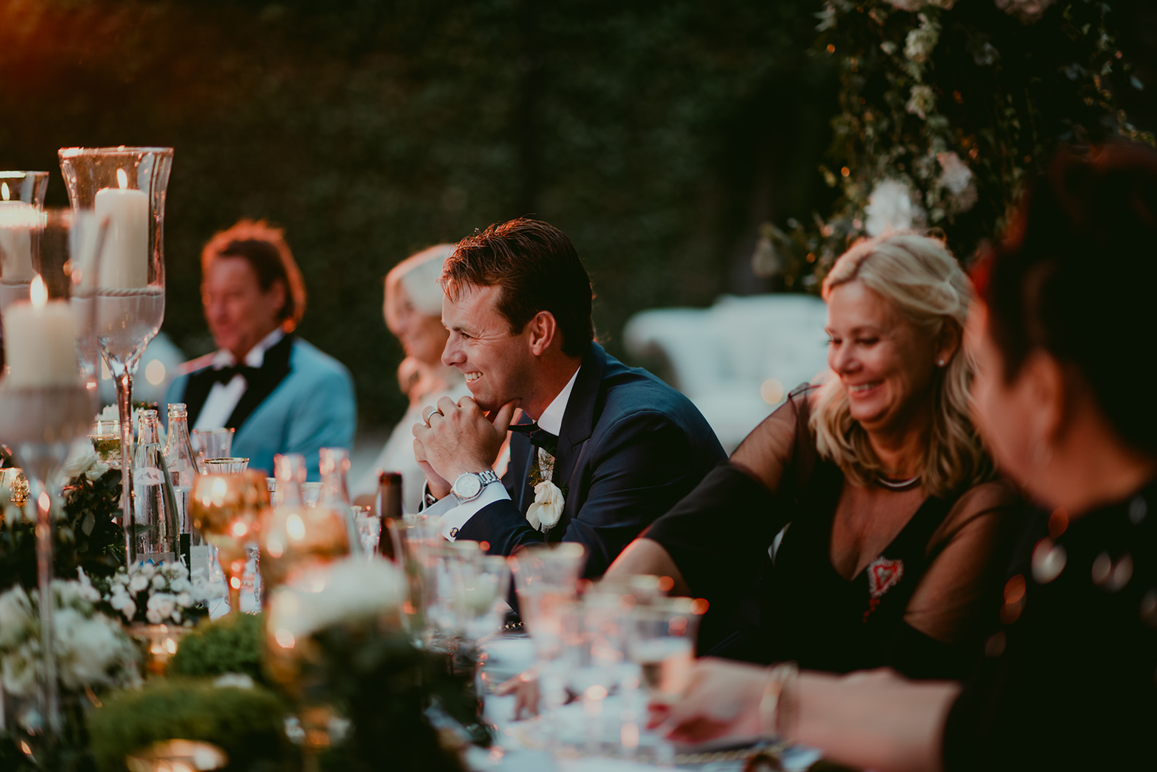 Bride and groom at amazing wedding in South of France
