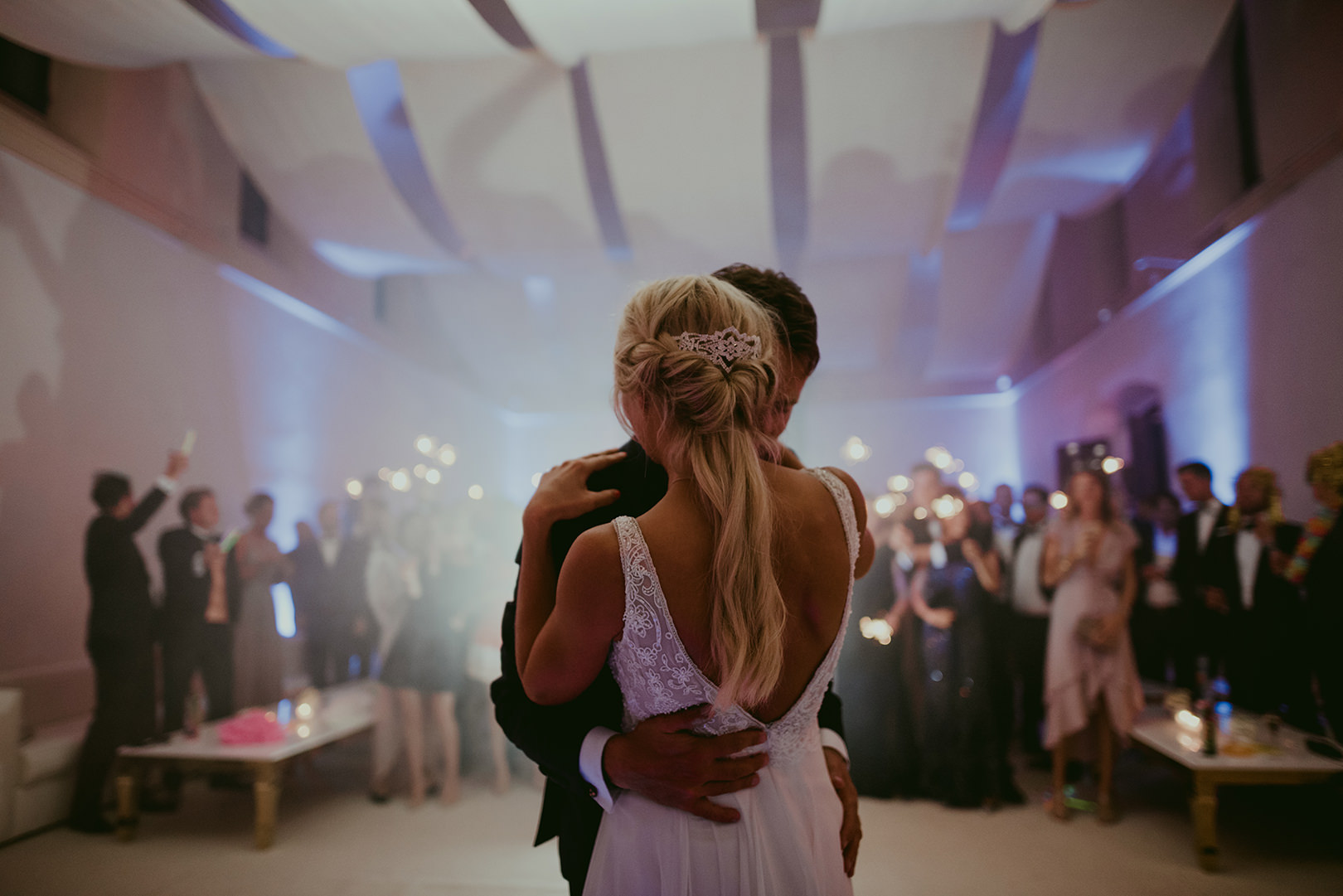 Bride and groom first dance in Cannes France