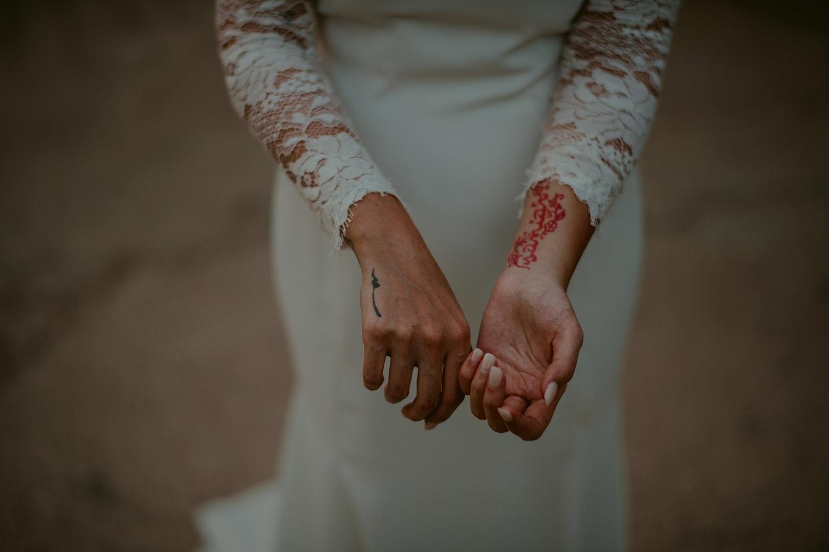 tatooed bride wedding photography