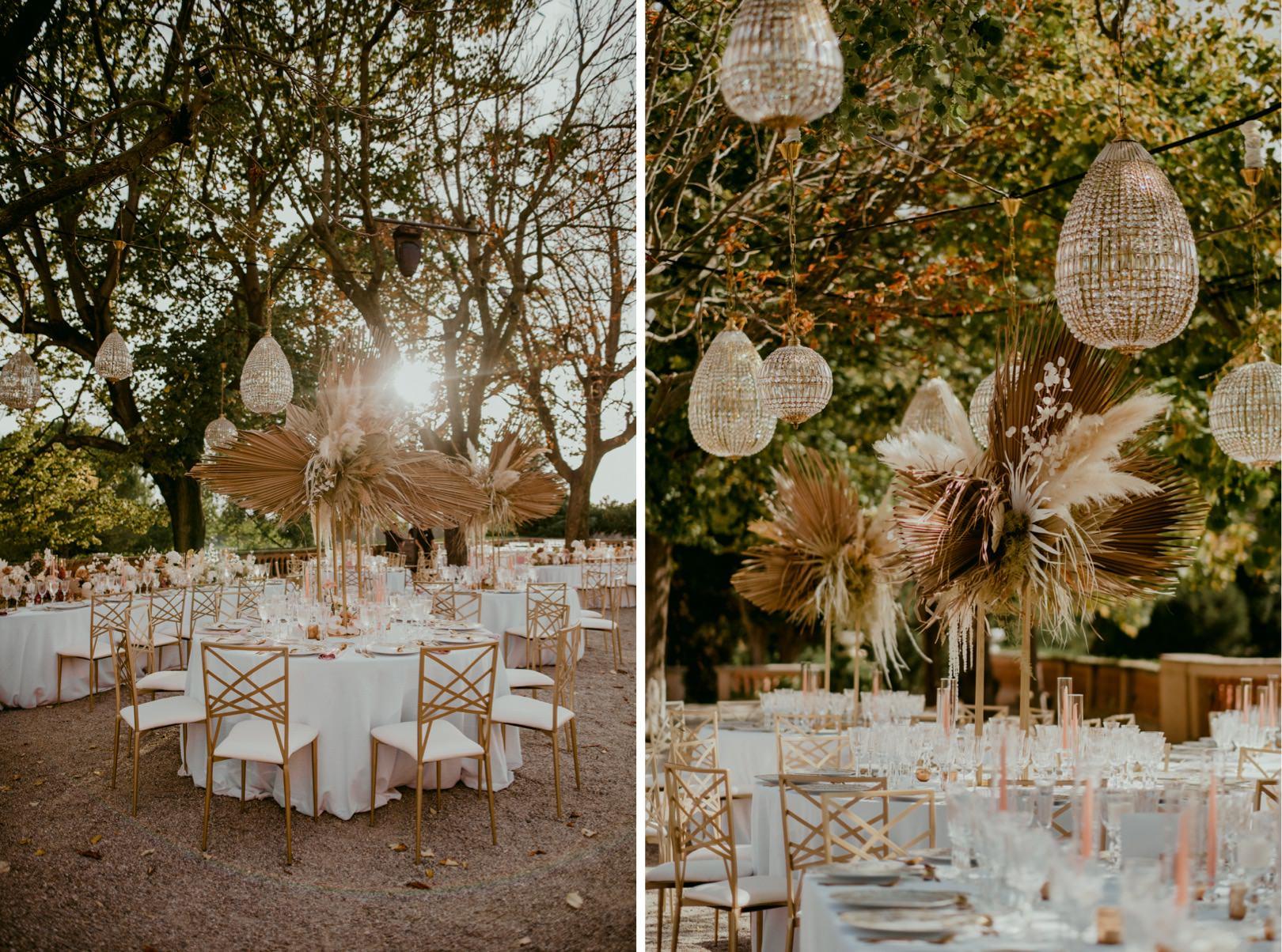 Gatsby inspired wedding dinner Barcelona