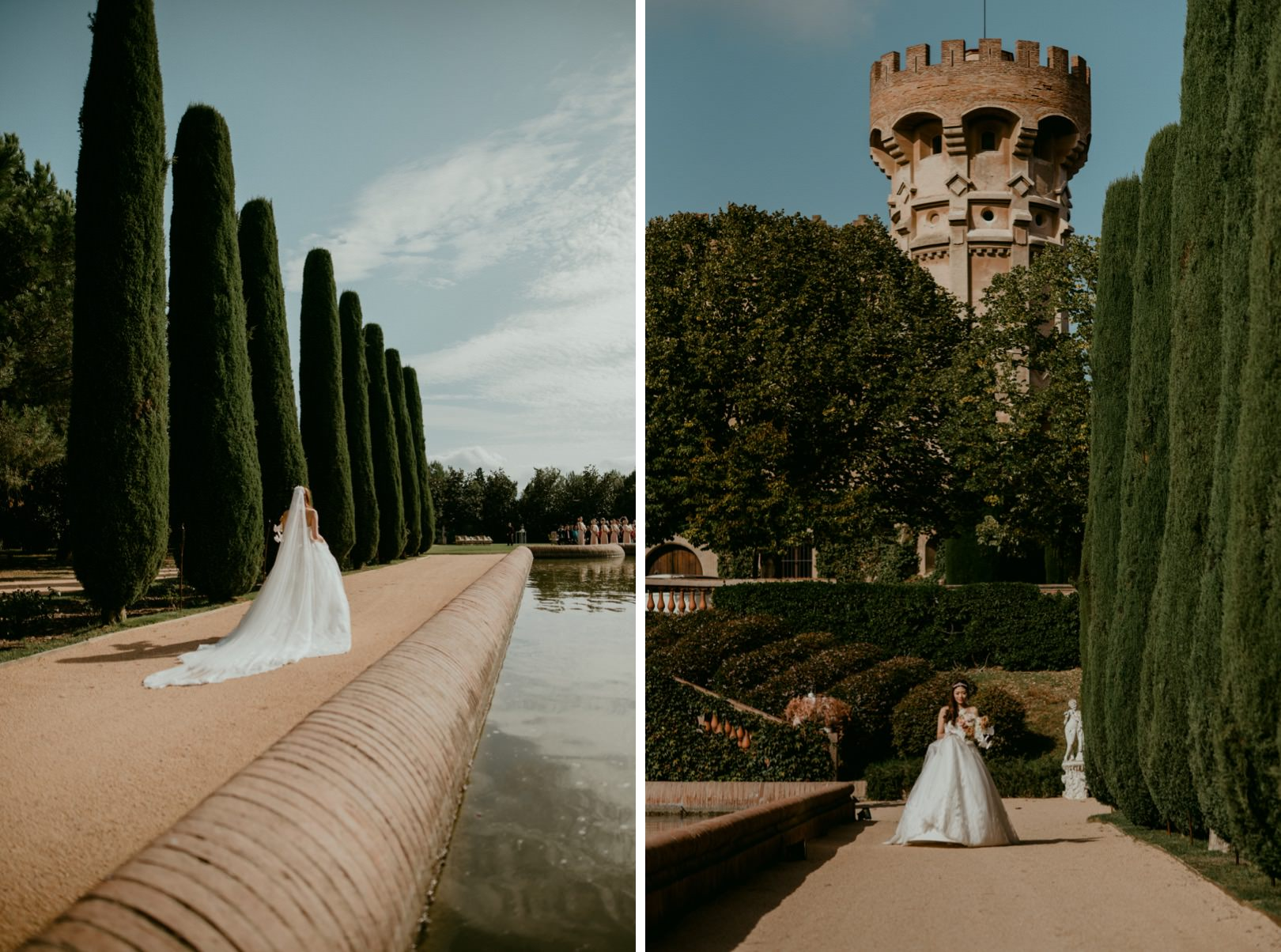 Epic castle wedding in Barcelona Spain