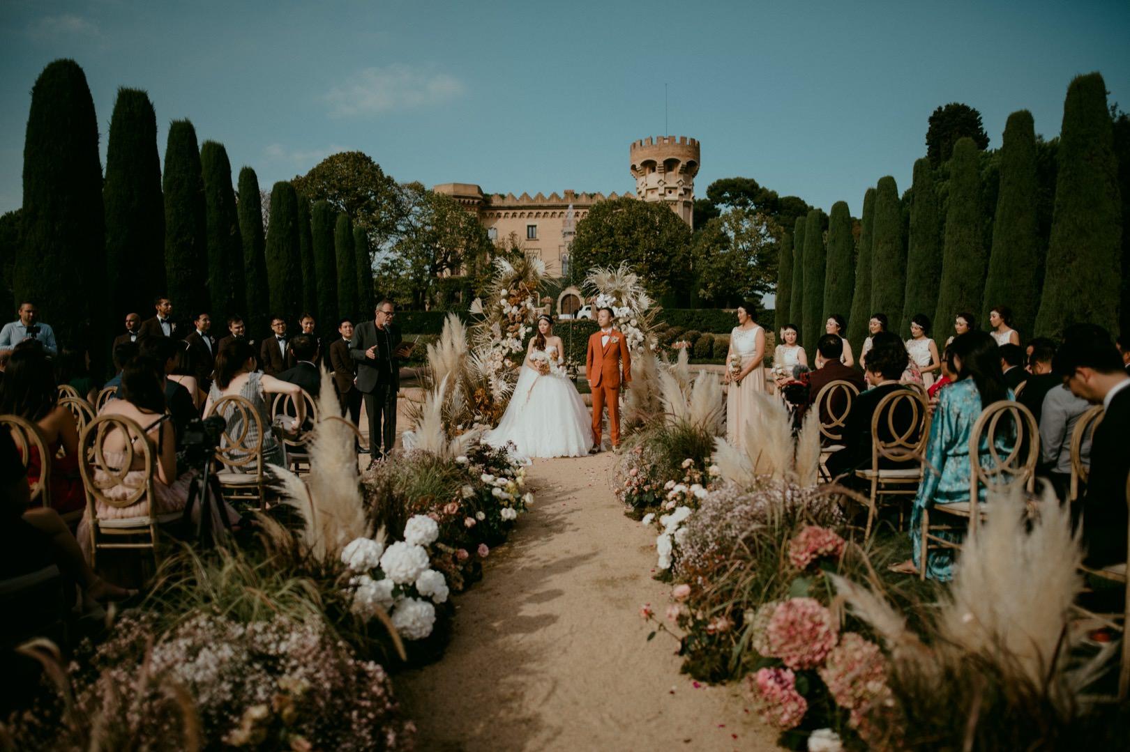 Castell de Sant Marcal wedding photographer for luxury weddings