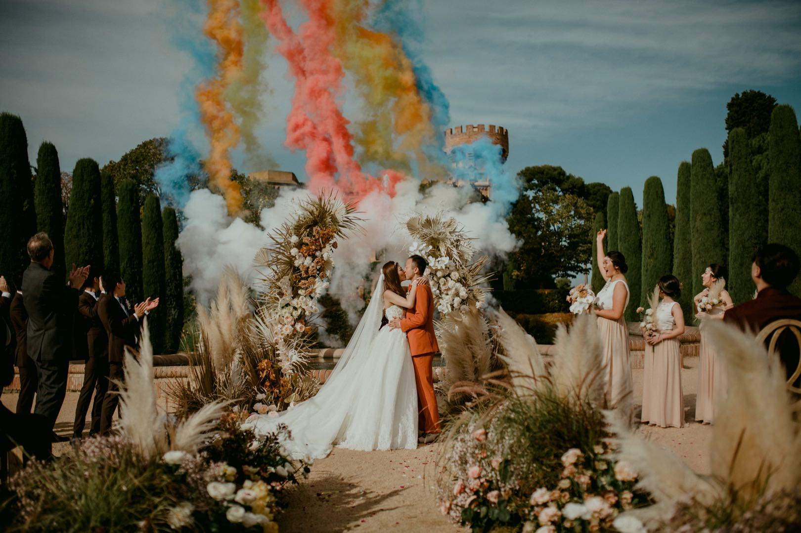Award winning Castell de Sant Marcal wedding photo