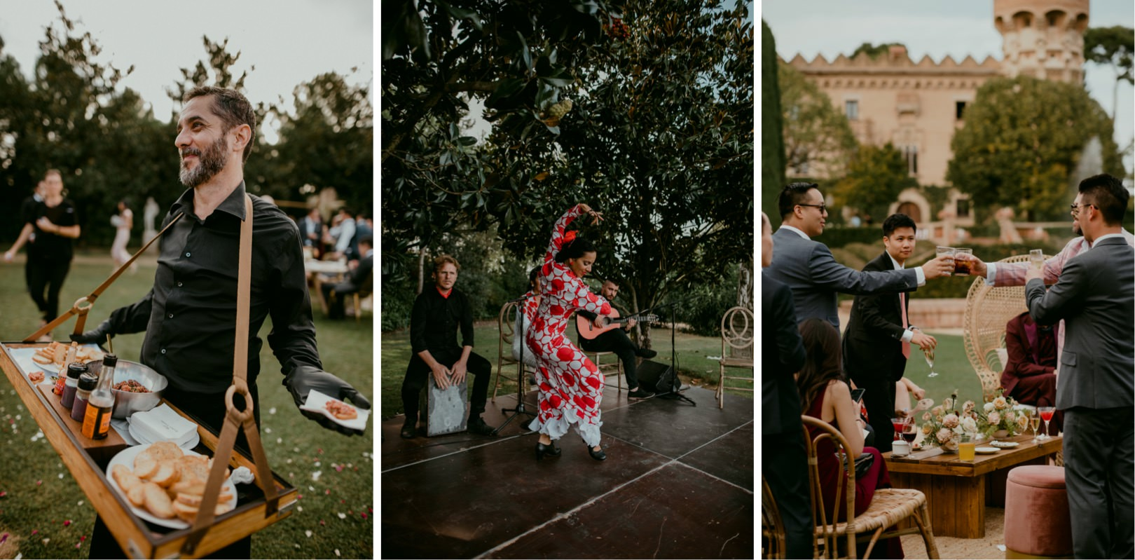 Luxury wedding at Castell de Sant Marcal wedding venue