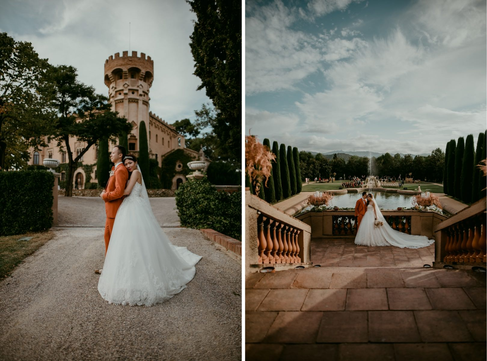 Romantic wedding portraits Barcelona