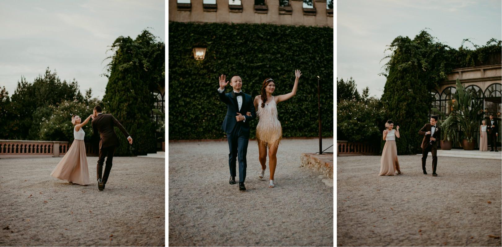 Candid wedding photos at Castell de Sant Marcal