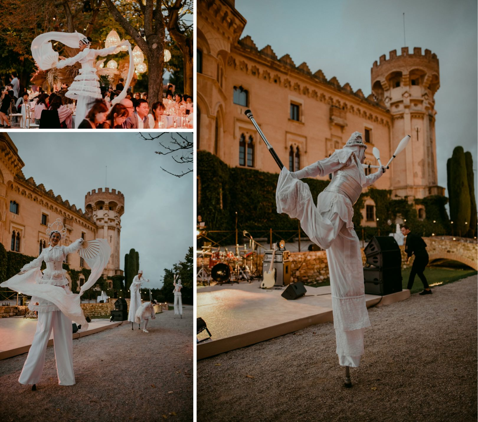 Epic wedding at Castell de Sant Marcal