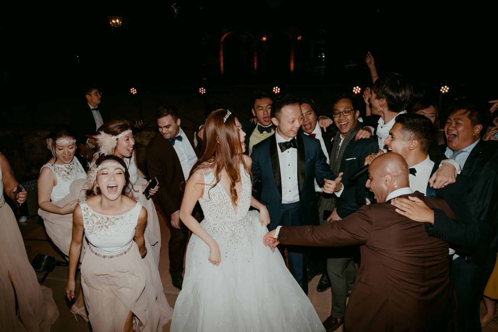 Best wedding party photography in Barcelona